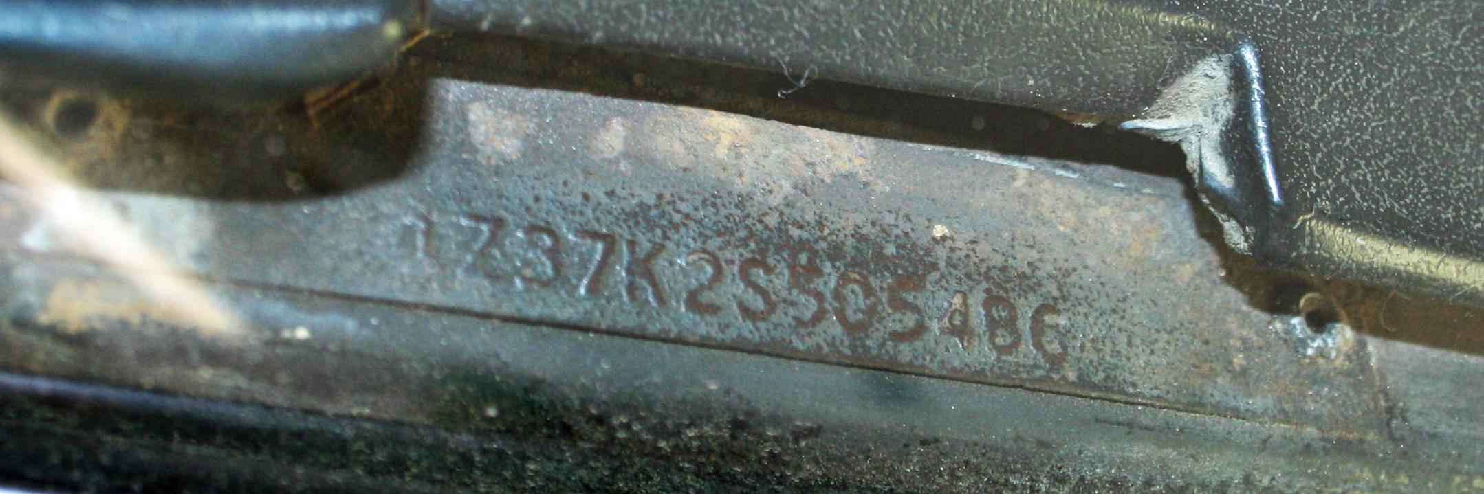 1985 corvette engine number location